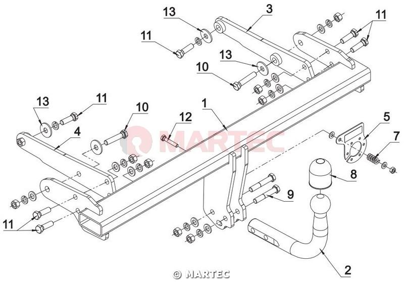 hak holowniczy autohak Audi A4 B9 Avant