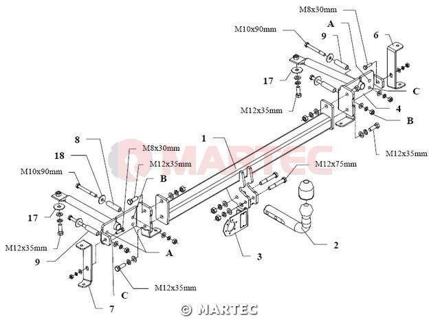 hak holowniczy autohak M47