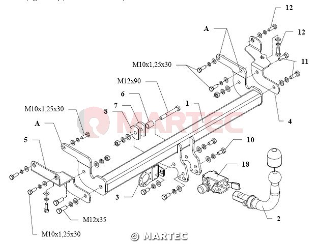 hak holowniczy autohak Z35A