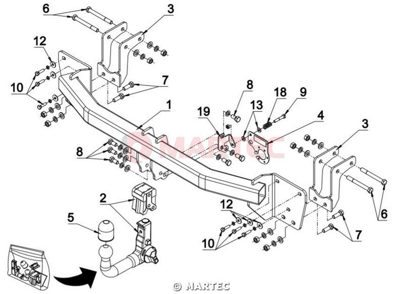 hak holowniczy autohak Mitsubishi Outlander