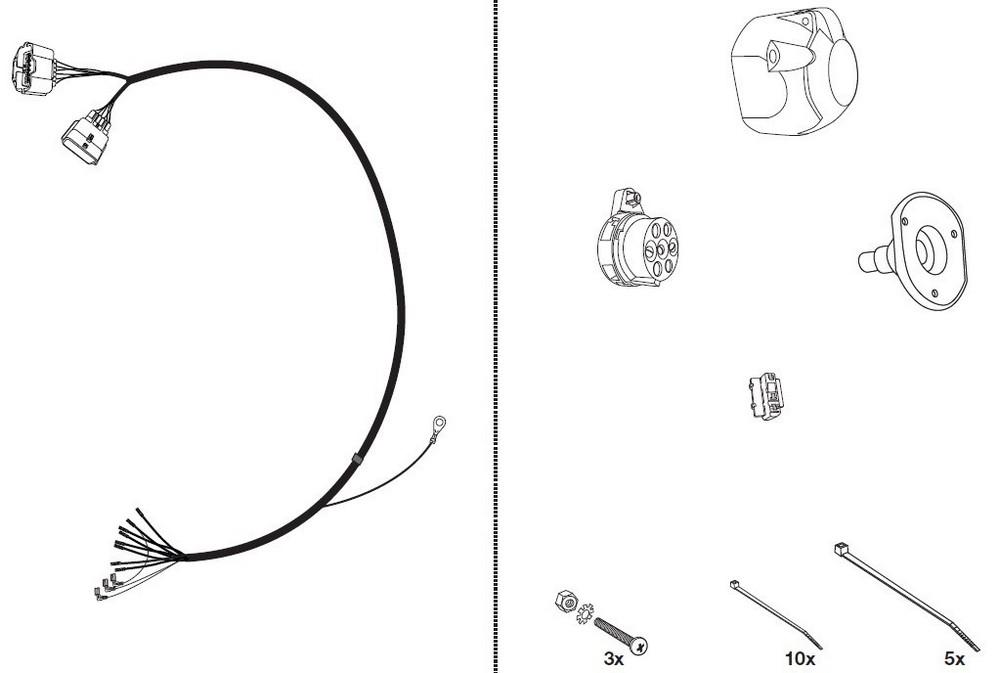 Wiązka dedykowana 7 pin Opel Movano Skrzynia Jeager 12500606