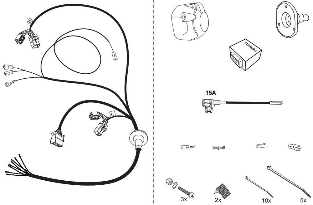 Wiązka dedykowana 7 pin Kia Pro Cee'd Autohak T65E
