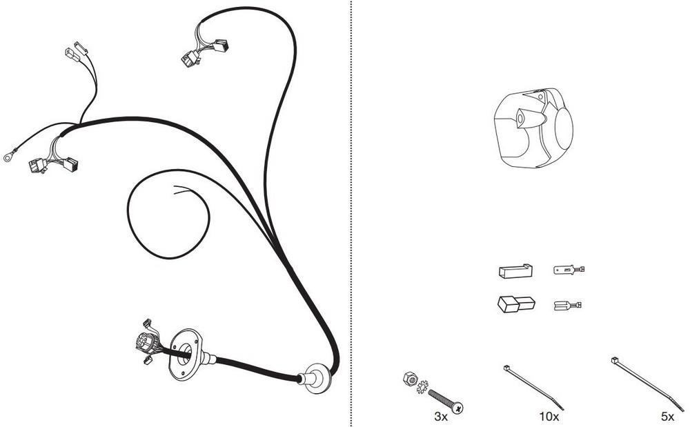 Wiązka dedykowana 7 pin Mazda 2 Autohak M55E