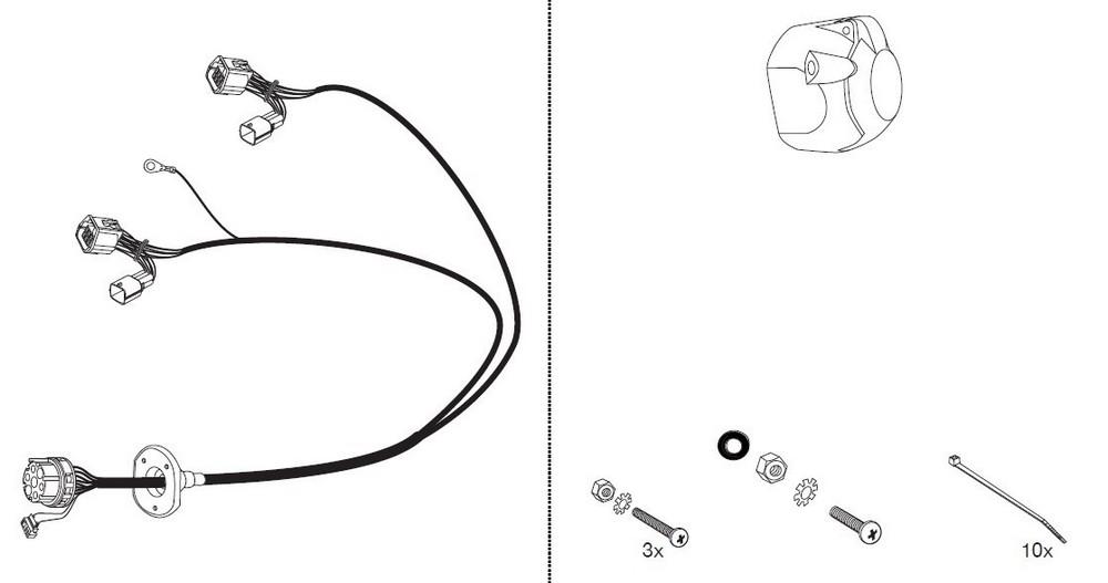 Wiązka dedykowana 7 pin Mazda B-Serie Jeager 16500520