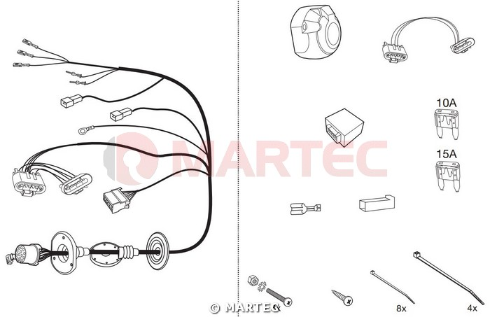 Wiązka dedykowana 13 pin Ford Tourneo Connect Autohak C46T1