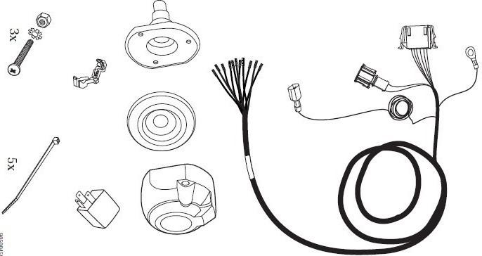 Wiązka dedykowana 13 pin VW Sharan Jeager 21500004