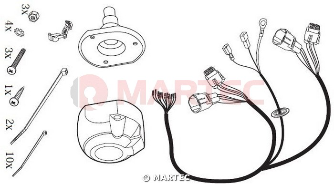 Wiązka dedykowana 13 pin Nissan Terrano Jeager 26500513