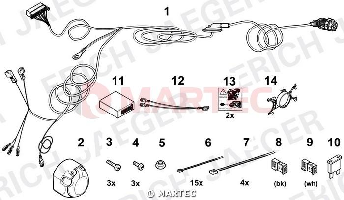 Wiązka dedykowana 7 pin Seat Altea Autohak SC43E